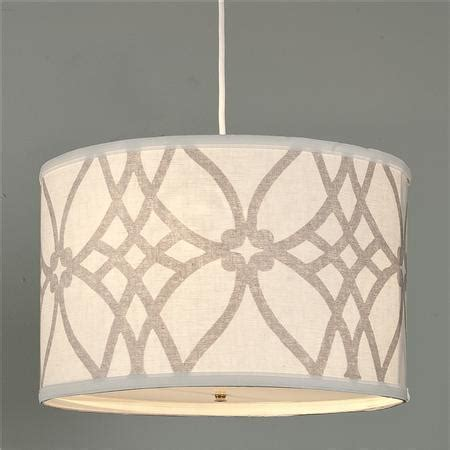 Pendant Lighting Drum Shade Trellis Linen Drum Shade Pendant Shades Of Light