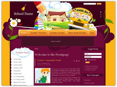 templates joomla education free dj joomla education template for schools organization