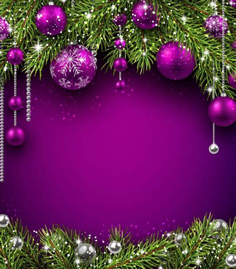 wallpaper christmas purple purple christmas ball with purple background vector