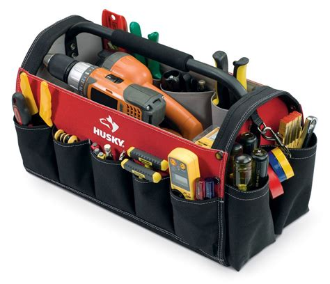 tips husky rolling tool bag for electrician and