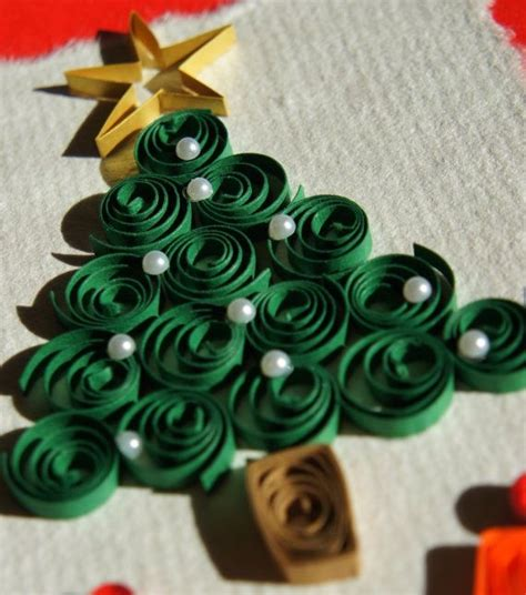 christmas tree quilling pinterest