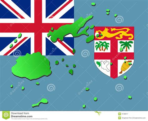 design graphics fiji map of fiji with flag royalty free stock photography