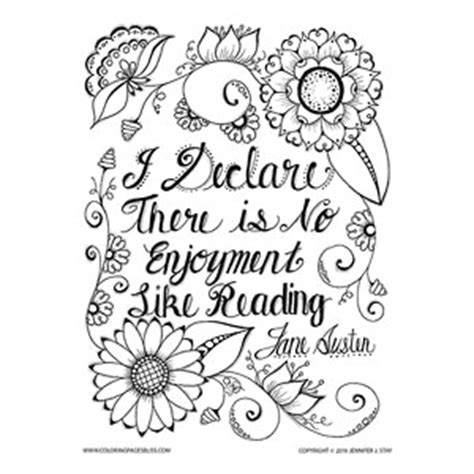 coloring pages bliss facebook jane austen quote coloring page