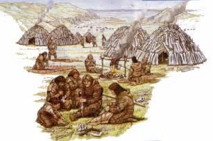 Early man village
