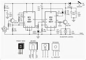 infrared remote for car motor controller circuit project