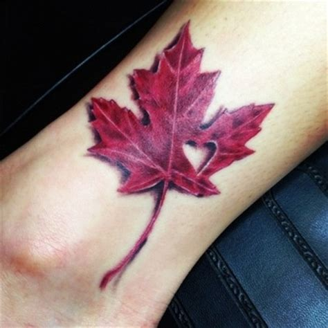 quebec flag tattoo maple leaf tattoo with small heart i love this a maple