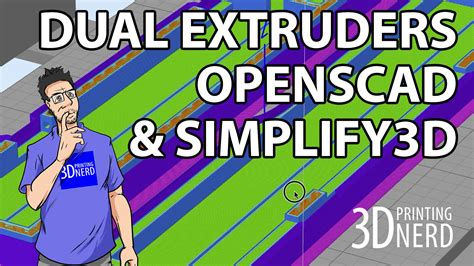 openscad color 3d printing in 2 colors with openscad and simplify3d