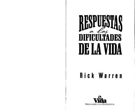 prop 243 sito de vida notas de transformados por rick warren respuestas a las dificultades de la vida por rick warren