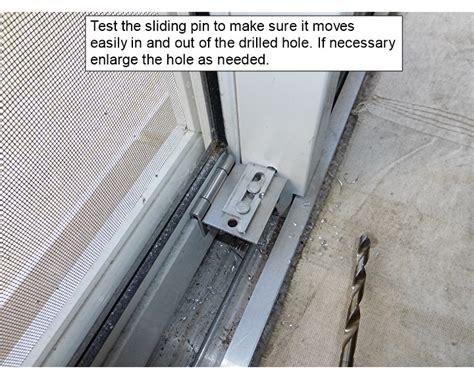 High Security Patio Doors Sliding Door Pin Lock Security Lock For Sliding Glass Door This Sliding Door Lock Is A Complete
