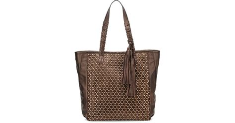 Kooba Tote Bag by Kooba Camino Metallic Leather Tote Bag In Metallic Lyst
