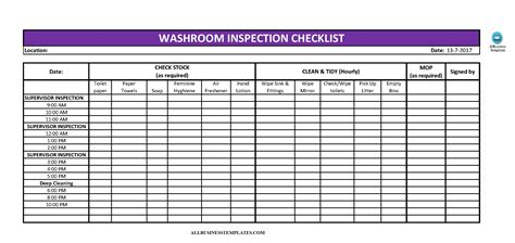 Bathroom Cleaning Checklist Template Excel Thecarpets Co Warehouse Cleaning Schedule Template Excel