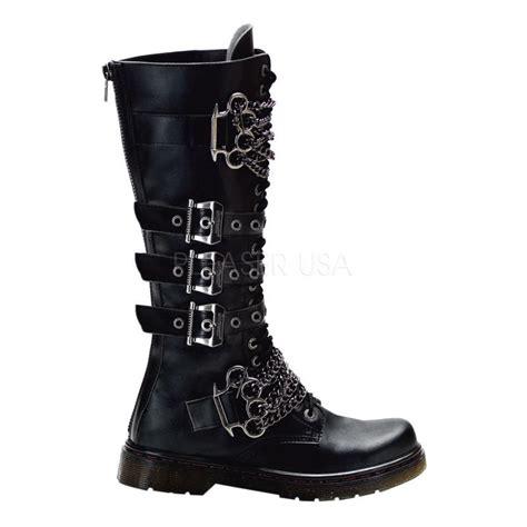 Sepatu Pantofel Pria Kickers Zipper High Leather Black demonia disorder 402 biker combat black