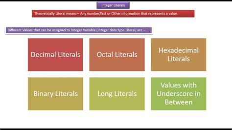 java pattern literal exle java ee java tutorial integer literals in java