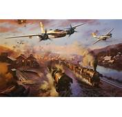 Wallpaper The Plane Bomber Painting WW2 Attack A 26