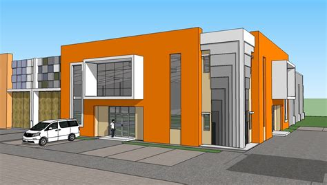 Industrial Modern House by Pt Rumah Kencana New Factory Building Concept 1