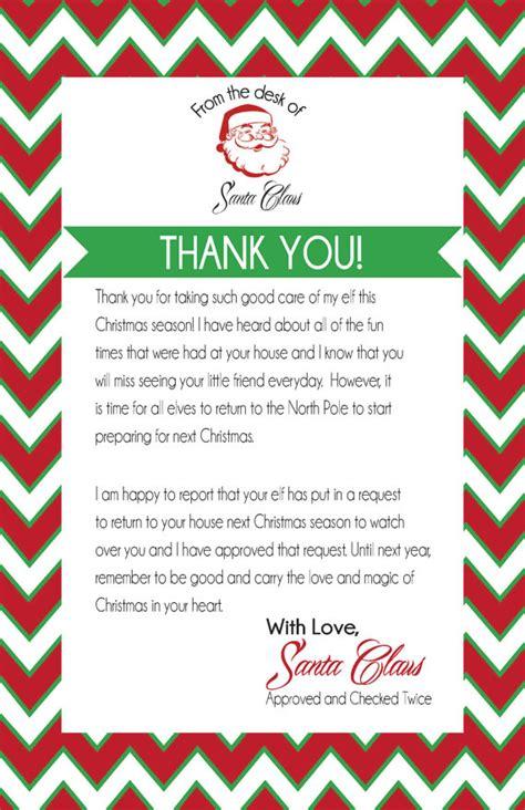 elf on the shelf goodbye letter pdf elf on the shelf instant download printable pdf santa thank you letter for elf