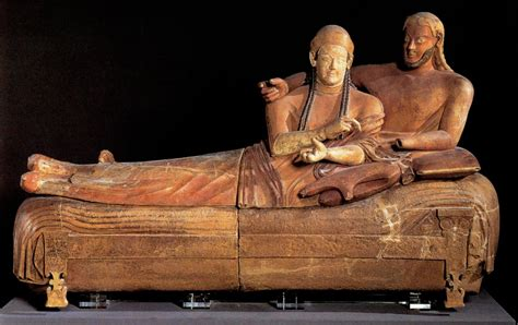 sarcophagus of reclining couple exam 2 greek etruscan roman jewish and early christian