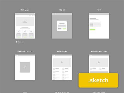 flowchart web app flowchart kit sketch freebie free resource for
