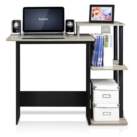black computer desk with shelves walker edison furniture company home office black desk