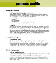 free template company profile design sle company profile sle 7 free documents in pdf word