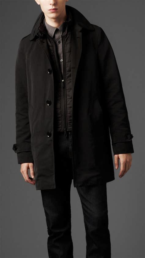 lyst burberry nylon car coat   warmer  black