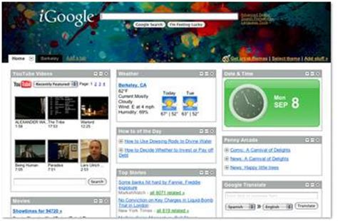 themes for google homepage now get designer themes for your igoogle homepage etiole