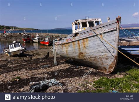 build wooden fishing boat old carvel built wooden fishing boat and moored boats at