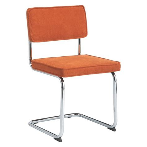 sevilla orange cantilevered dining chair habitat