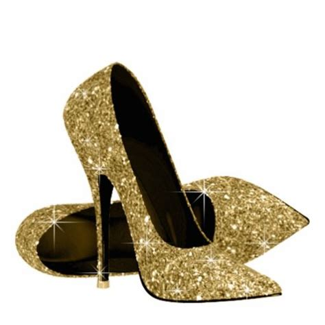 Fly Shoes Marilyn 4700 Gold gold glitter high heel shoes cutout decorating ideas