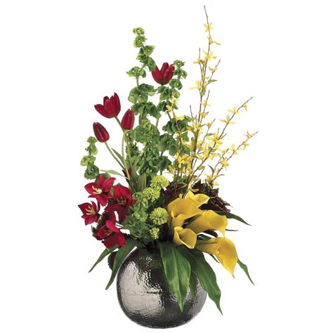 floral arrangements artificial spring arrangements
