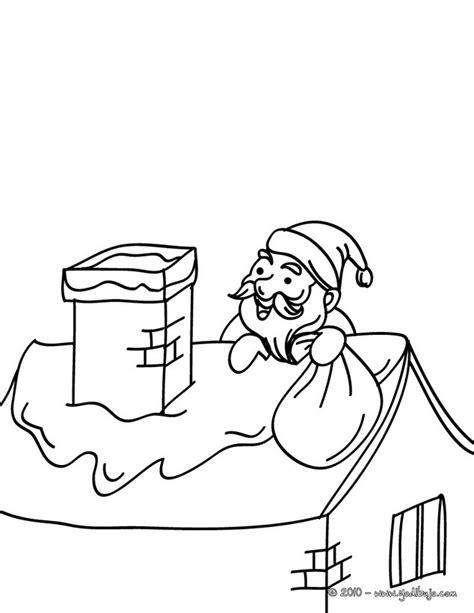 imagenes llegando navidad dibujos para colorear papa noel llegando en el teecho de