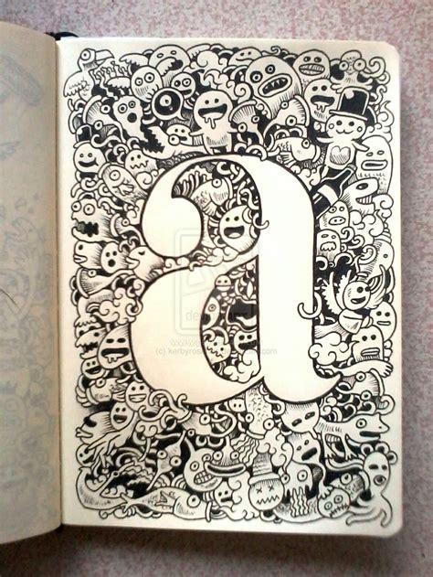 doodle name huruf i doodle seni mencoret vincent cahya