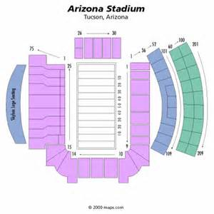 of arizona football stadium map arizona stadium seating chart arizona stadium tickets