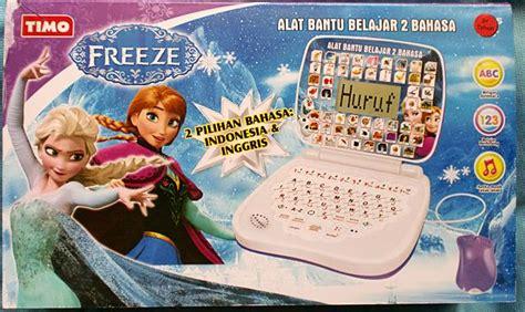 Mainan Edukasi Laptop Mini 4 Bahasa Frozen harga mainan edukasi laptop anak layar mouse motif frozen