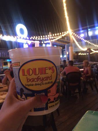 Louie S Backyard Spi by Louie S Backyard South Padre Island Restaurantanmeldelser Tripadvisor