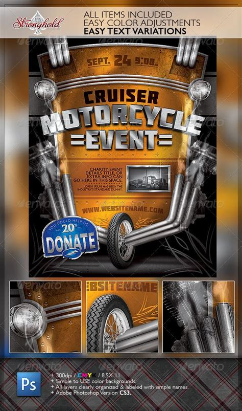 Vintage Motorcycle Event Flyer Template Vintage Flyers Pinterest Event Flyer Templates Free Motorcycle Ride Flyer Template