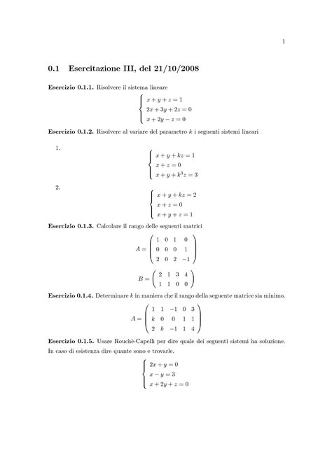 dispense matematica generale matematica generale sistema lineare cramer rouch 233