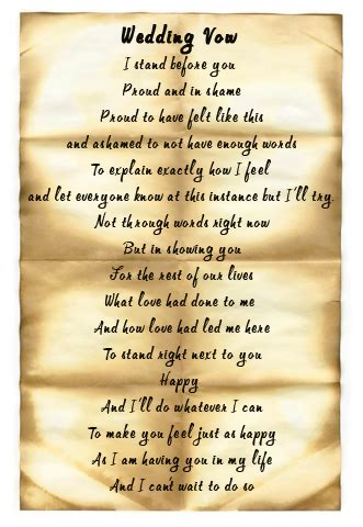 wedding vow template exles of wedding vows wedding dress