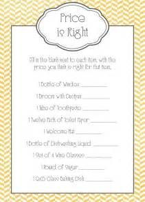 price is right bridal shower template 17 best images about bridal shower on