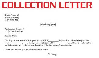 collections letter template collection letter 3000