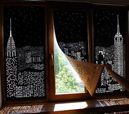 Window Blackout Curtains Buildings And Cut Into Blackout Curtains Turn Your Windows Into Nighttime Cityscapes