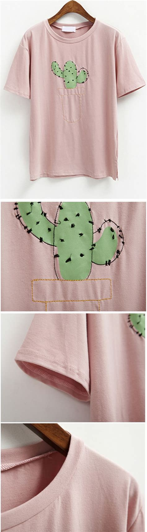 cute t shirt pattern cute print cactus stylish cactus pattern short sleeve