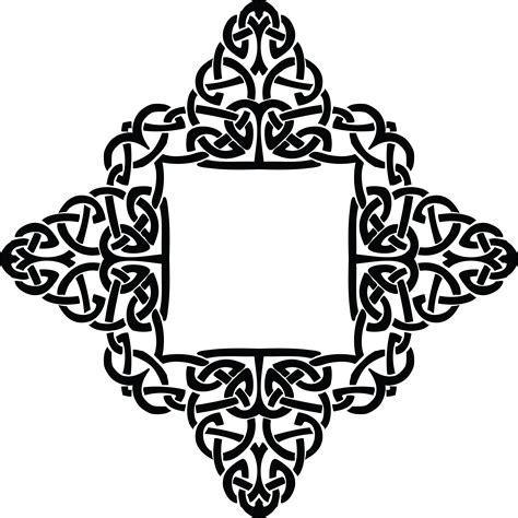 celtic design elements vector free clipart of a celtic diamond frame border design