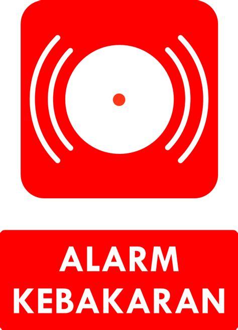 Alarm Kebakaran rambu k3 kumpulan rambu sarana darurat kebakaran safety
