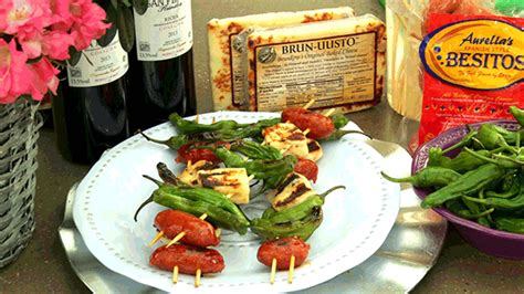 heb texas backyard heb grilled shishito peppers with dried chorizo