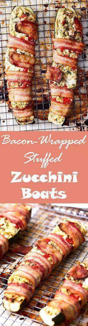 stuffed zucchini boats with cream cheese chopped vegetables and cream cheese stuffed zucchini boats