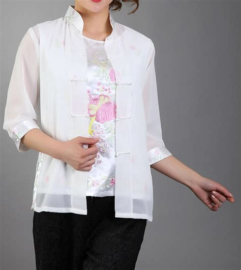 White Flower Shirt Size S M L new arrival fashion white s silk satin shirt top embroidery blouse flower size s m