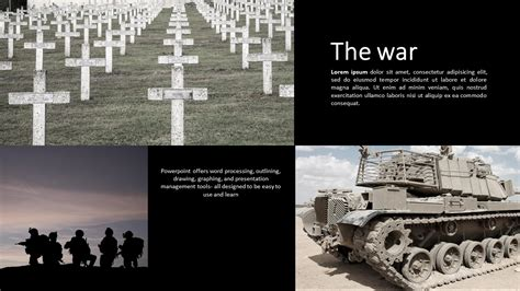 war powerpoint template wide goodpello
