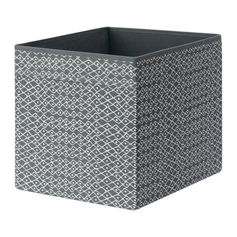 grey pattern storage box dr 214 na box grey white patterned 33x38x33 cm ikea