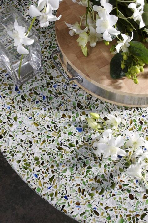 Bathroom Countertop Tile Ideas Recycled Glass Terrazzo Counter Countertops Pinterest